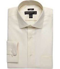 pronto uomo ecru queen's oxford slim fit dress shirt