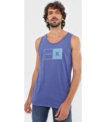regata hurley natural azul - azul - masculino - dafiti
