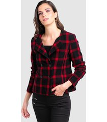 blazer alba moda zwart::rood