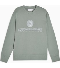 mens jade green mcm embroidered sweatshirt
