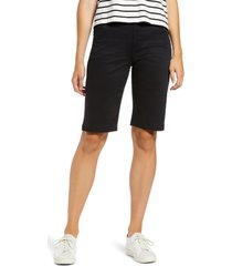 women's liverpool lacie bermuda shorts, size 16 - black