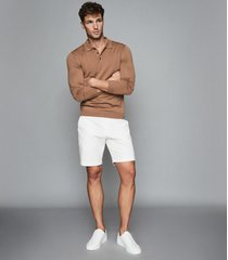 reiss wicket - casual chino shorts in white, mens, size 38