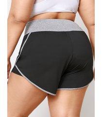 yoins plus talla shorts con tira elástica