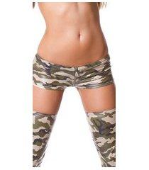 gogo-shorts met rits leger-kleurig