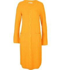 abito in maglia con tasche (arancione) - bpc bonprix collection