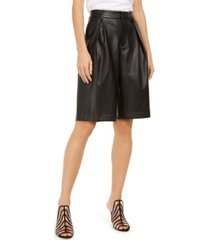 inc faux-leather gaucho shorts, created for macy's