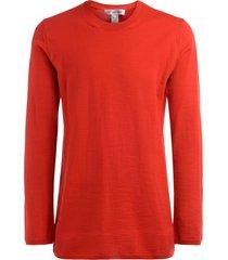 comme des garçons shirt comme des garçons oversize shirt in red wool