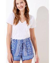 loft paisley paper bag shorts