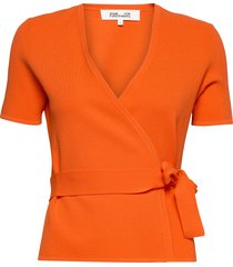 mirella blouses short-sleeved orange diane von furstenberg