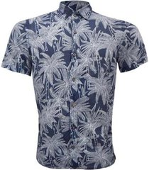 camisa alma de praia linho estampa masculina - masculino