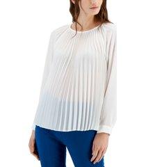 alfani pleated long-sleeve top, created for macy's