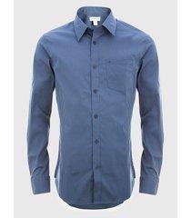 camisa stretch gham verde calvin klein