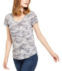 vince camuto camouflage-print top