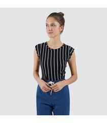 camiseta mujer lineas verticales