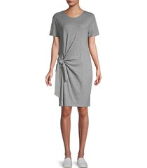 side-tie t-shirt dress
