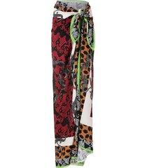 eva sucuri jacaré beach skirt - multicolour