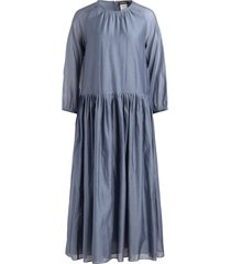 jurk in voile van zijde