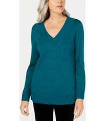 karen scott v-neck long-sleeve sweater, created for macy's