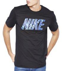 camiseta nike derrame t-camo 684086-010 negro para hombre