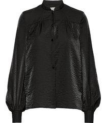 malin blouse lange mouwen zwart baum und pferdgarten