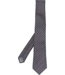 brunello cucinelli embroidered dot tie - grey
