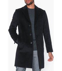 river island sb3 overcoat jackor black