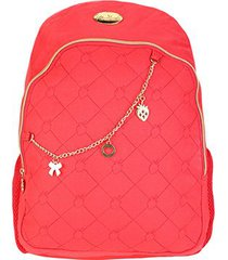 mochila escolar infantil luxcel moranguinho com acessórios