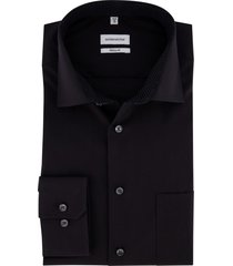 overhemd seidensticker zwart regular fit