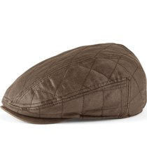waxed cotton quilted driving cap