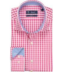 sleeve7 heren overhemd trendy roze ruit