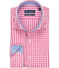 sleeve7 overhemd trendy roze ruit