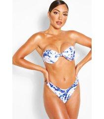 mix & match tie dye bikinitop met beugel, blauw