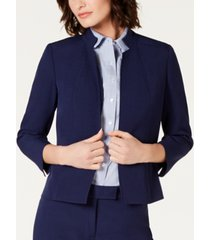 anne klein star-collar open-front blazer