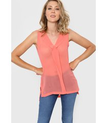 blusa coral ted bodin tifany