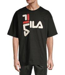 fila men's logo graphic cotton tee - heather grey - size s
