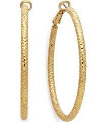 "thalia sodi large 2"" textured hoop earrings"