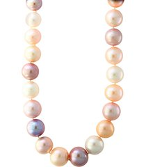 10mm round pearl & sterling silver necklace
