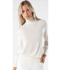 maglia a maniche lunghe in modal cashmere ultralight