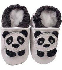 pantufa catz calçados infantil couro nicky panda - unissex