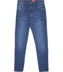 jean silueta slim fit, 5 bolsillos lavado de moda para joven 00957