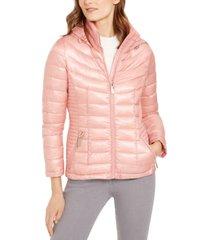 calvin klein hooded packable puffer jacket