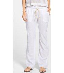 women's roxy 'oceanside' beach pants, size x-small - white