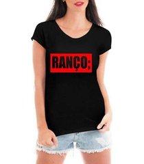 blusa criativa urbana ranço t-shirt feminina