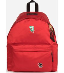 eastpak men's x undercover padded pak'r satin backpack - red
