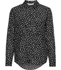 milly shirt aop 7201 blouse lange mouwen blauw samsøe samsøe