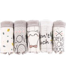 caja de regalo cotton panties bow señoras ropa interior de algodón cute ropa de la mujer