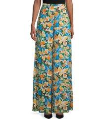 m missoni women's floral wide-leg pants - size 38 (2)