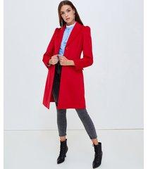 motivi cappotto lungo in panno donna rosso
