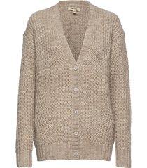 adie cardigan mega knit gebreide trui cardigan grijs whyred