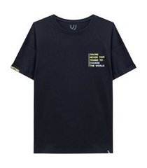 camiseta mc change the world preto johnny fox 8 preto